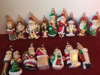 "Rare, Retired Lot Of 16 Merck Old World Christmas 3-5"" Glass Ornaments"