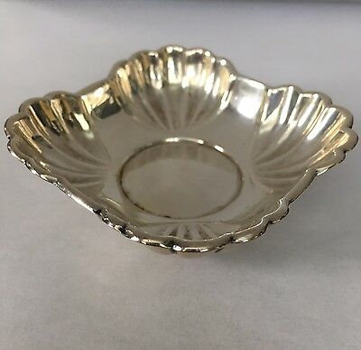 Vintage Solid Sterling Silver Pin or Ring Dish Signed, Sterling 1-4, 28g