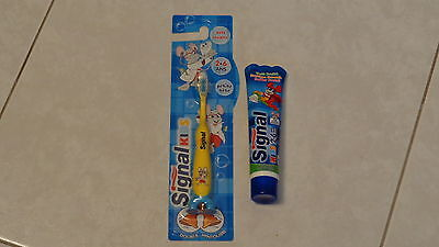 1 Brosse A Dents Oral Kids (2-6 Ans) + 1 Dentifrice Signal Kids Gout Fruité