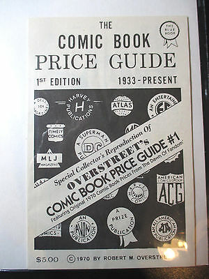 1970 OVERSTREET COMIC BOOK PRICE GUIDE #1 - 1993 Reprint MINT
