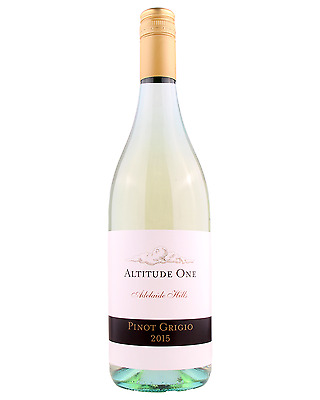 Altitude One Adelaide Hills Pinot Grigio 2015 case of 12 Dry White Wine 750mL