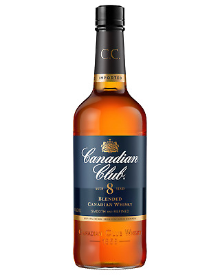 Canadian Club 8 Year Old Blended Canadian Whisky 700mL case of 6