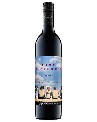 Five Friends Merlot 2015 case of 6 Dry Red Wine 750mL Central Ranges, NSW