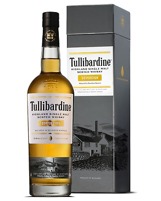 Tullibardine Highland Single Malt Scotch Whisky Sovereign 700mL case of 6