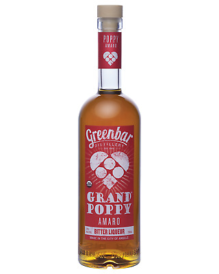 Grand Poppy Organic Amaro Bitter Liqueur 750mL bottle Bitter Liqueurs