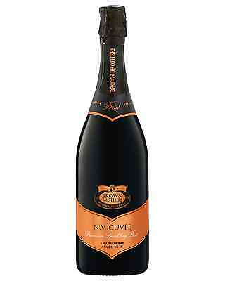 Brown Brothers NV Cuvee case of 6 Chardonnay Pinot Noir Sparkling White Wine