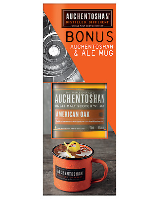 Auchentoshan Scotch Whisky 700mL & Mug bottle Single Malt Scotch Whisky