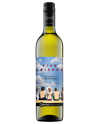 Five Friends Chardonnay 2016 case of 6 Dry White Wine 750mL Central Ranges, NSW