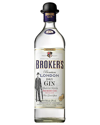 Broker's 47% London Dry Gin 700mL bottle