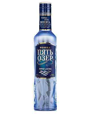 Five Lakes Russian Vodka 700mL case of 6