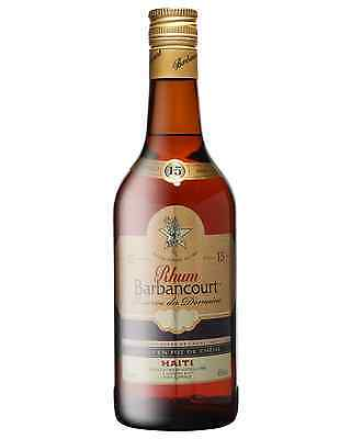 Barbancourt Reserve du Domaine Old Rum 15 Years Old 700mL case of 6 Dark Rum