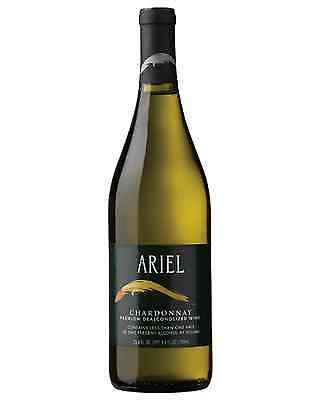 Ariel Non-Alcoholic Chardonnay case of 6 Dry White Wine 750mL