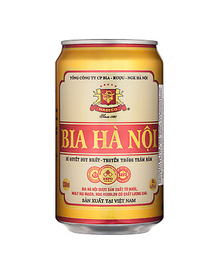 Hanoi Beer Cans 330mL case of 24 Lager