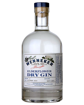 Wenneker Elderflower Small Batch Dry Gin 700mL bottle London Dry Gin