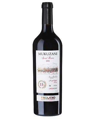 Tbilvino Mukuzani Special Reserve 2013 case of 6 Saperavit Dry Red Wine 750mL