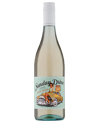 Gapsted Wines Sunday Drive Pinot Grigio 2017 case of 6 Dry White Wine 750ml