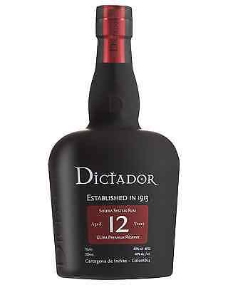 Dictador 12 Year Old 700mL case of 6 Rum Dark Rum