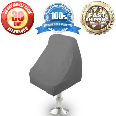 "Waterproof Pedestal Pontoon Boat Seat Chair Cover 21""Lx24""Wx24""H Grey"