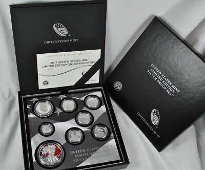 2017-S Limited Edition Silver U.s. Proof Set -Proof Silver Eagle,box & Coa  17Rc