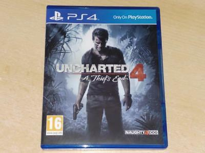 Uncharted 4 A Thief's End PS4 Playstation 4 **FREE UK POSTAGE**