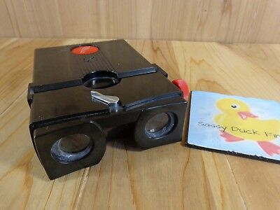 Vintage Stereo Realist SLIDE VIEWER Red Button Bakelite FOR PARTS OR REPAIR