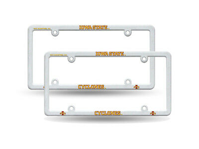 IOWA HAWKEYES NCAA Raised Letter White Plastic License Plate Frame ...