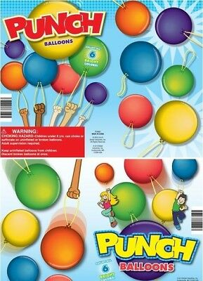 "Punch Balloons Balloon Toys Vending Novelty in 2"" Capsules - 250 Count + DISPLAY"