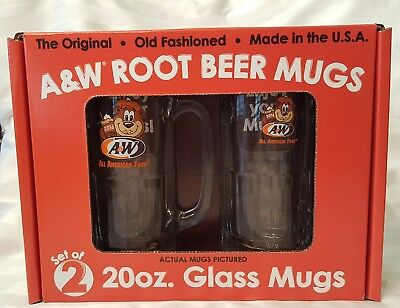 A&W Root Beer Collector Mug Set of 2 in Gift Box