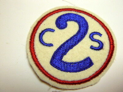 A     WW 2 U S Army 2nd Corps School Patch King Embroidered Felt   Patch