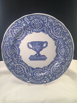 Spode Blue Room Collection Warwick Vase Blue & White Plate Made in England
