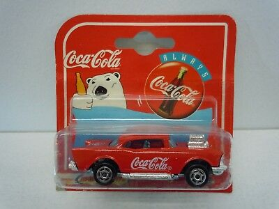Vintage Coca Cola '57 Chevrolet by Majorette 200 Series 1:64 Die-Cast