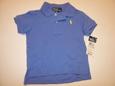 NEW POLO RALPH LAUREN blue yellow pony shirt baby infant toddler boys 9M 9 mo
