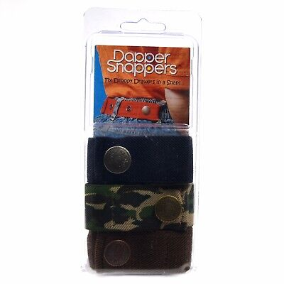 Dapper Snapper Baby & Toddler Adjustable Belt 3 Pack - Navy, Gator Camo & Choco