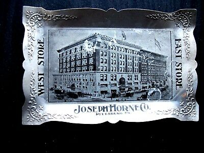 Vintage Joseph Horne & Co Pittsburgh Pa Ash Tray Early 1900S Picture Cool Neat