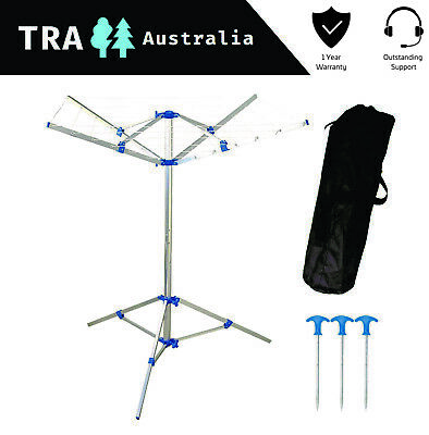 Portable Camping Clothesline With Pegs & Carry Bag Clothes Line Hanger Camping