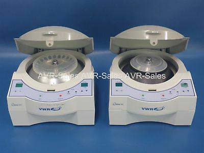 Lot of 2 VWR Galaxy Benchtop Centrifuge with Rotors 14D 16DH