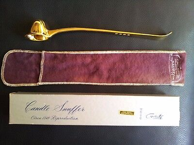 VINTAGE GERITY Vintage Brilliant GOLD PLATED Candle Snuffer NEW w/ Hallmark