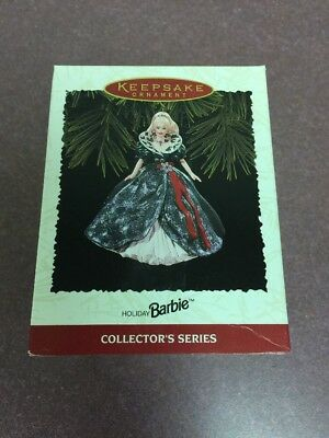 1995 HOLIDAY BARBIE ORNAMENT HALLMARK 3rd IN SERIES NEW! Christmas