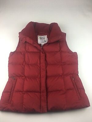 Eddie Bauer Goose Down Women's 700 Fill Power Red Puffer Vest Size Large