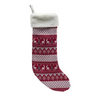 Red and White Christmas Sweater Stocking