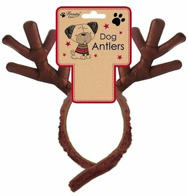 Pet Dog Cat Antlers Headbamd Rendieer Fancy Dress Party Costume Halloween Xmas