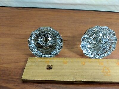 Vintage Antique Victorian Multipoint Clear Glass Door Knob set