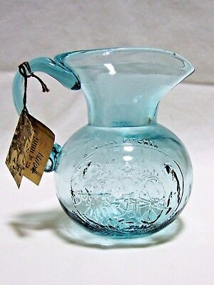 Clevenger Brothers Glass Molly Pitcher Pitcher Green Clayton, NJ Blown Pontil