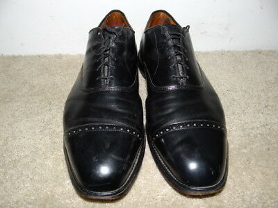 Allen Edmonds Byron Men's Leather Black Captoe Oxford Shoes Size 13