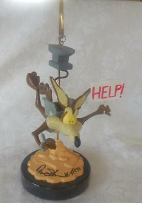 Wile E. Coyote Hanging statue SIGNED 164 of 258 Looney Tunes wily coyote Repair