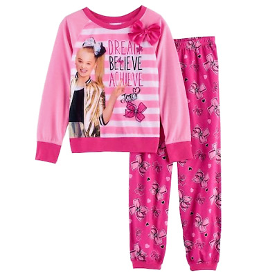 Girl's JoJo Siwa Size 8 or 10 DREAM BELIEVE ACHIEVE Pajamas Shirt Pants Pajama