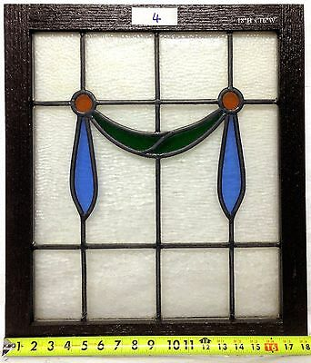 """Antique Victorian Stained Glass Window.  18""""h x 16""""w."""