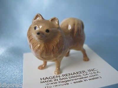 Hagen Renaker Dog Pomeranian Figurine Miniature 3130 Ceramic NEW
