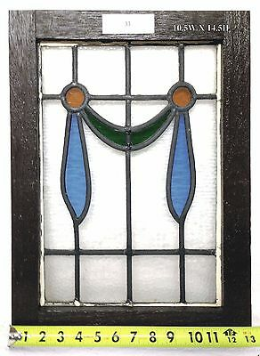 Antique Victorian Stained Glass Window.  10.5 w x 14.5 h