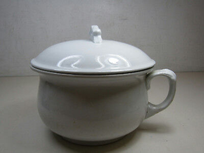 Antique Alfred Meakin Chamber Pot Made in England Royal Ironstone China W/ Lid